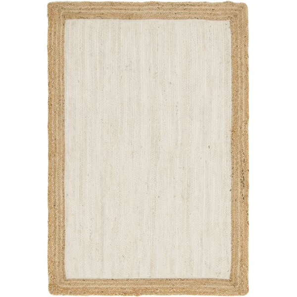 Swarthout Hand-Braided Ivory Area Rug by Bay Isle Home