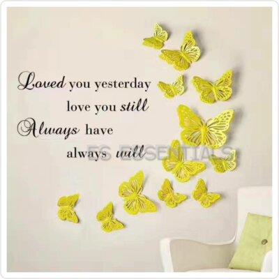 Old Fashioned Wall Decoration With Butterfly Pattern - Wall Art ...