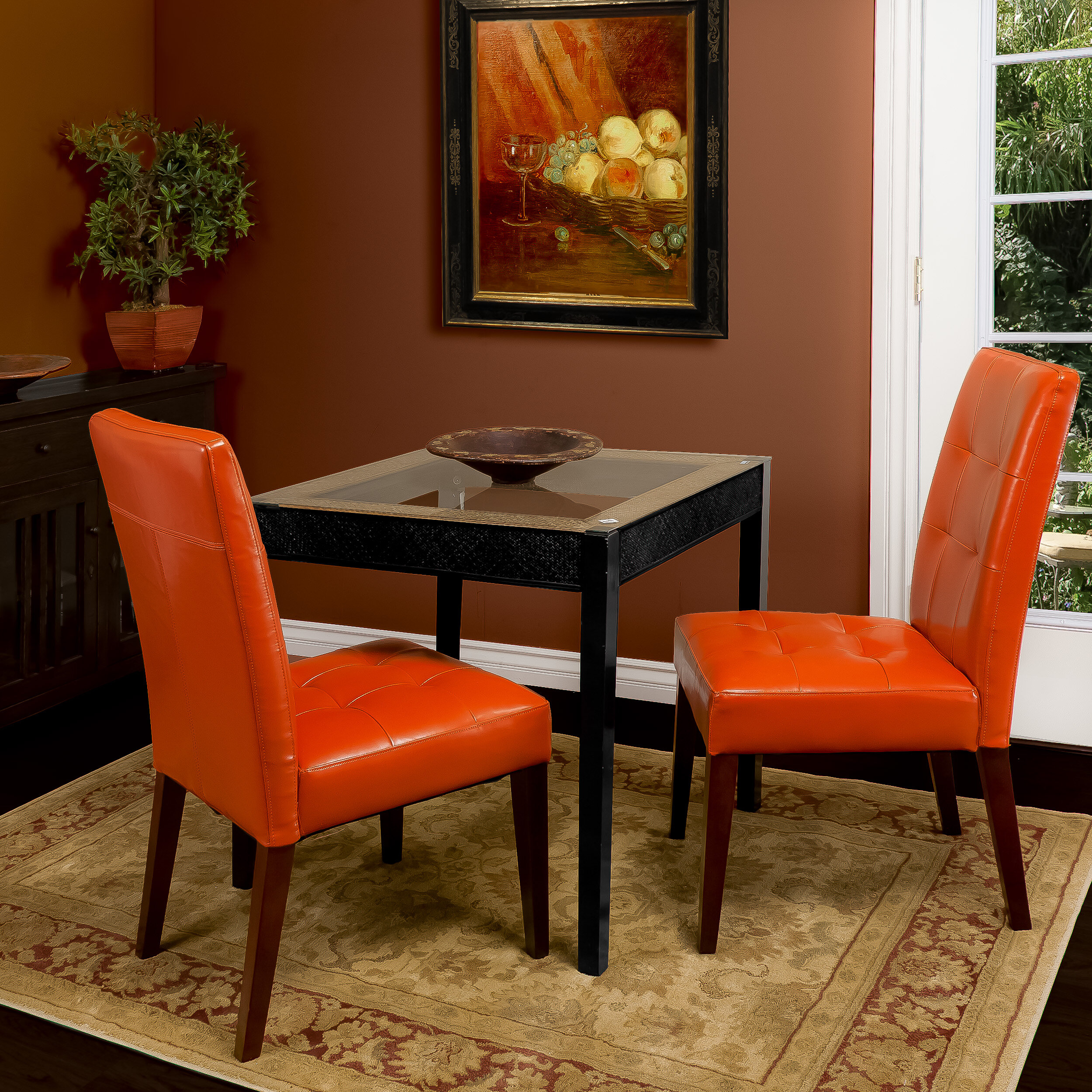 Home loft concepts talib tufted dining chair reviews for Tufted leather dining room chairs