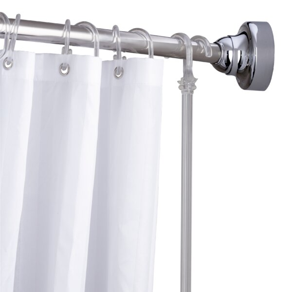 Space Saver 72 Adjustable Curved Fixed Shower Curtain Rod by Croydex