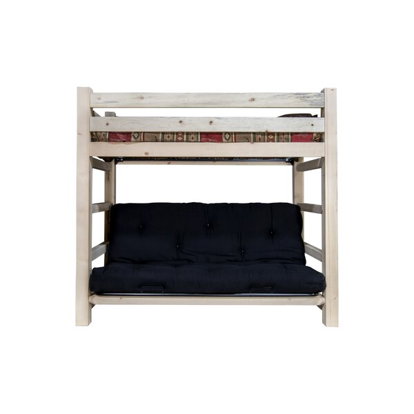 Haleigh Bunk Bed 44 Non-Toxic Cotton Twin Futon Mattress by Mistana