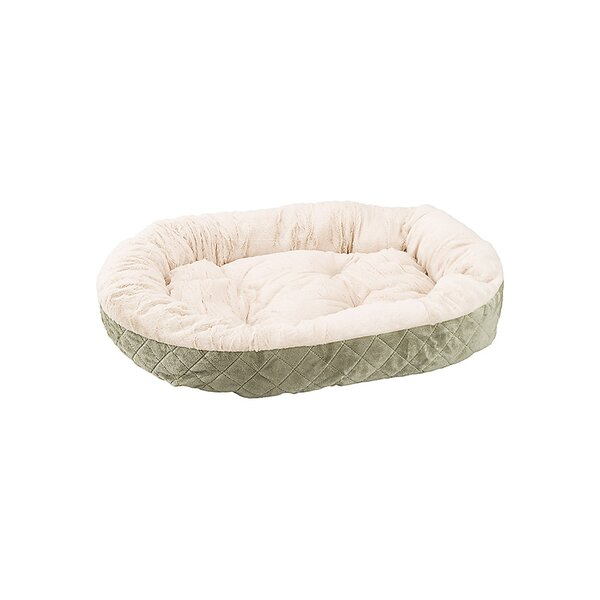 Sleep Zone Quilted Oval Cuddler Dog Bed by Ethical Pet