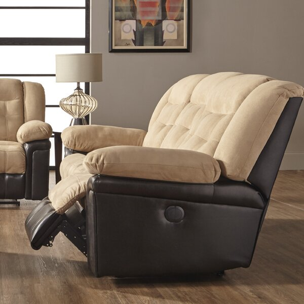 Waddells Leather Manual Wall Hugger Recliner by Andover Mills