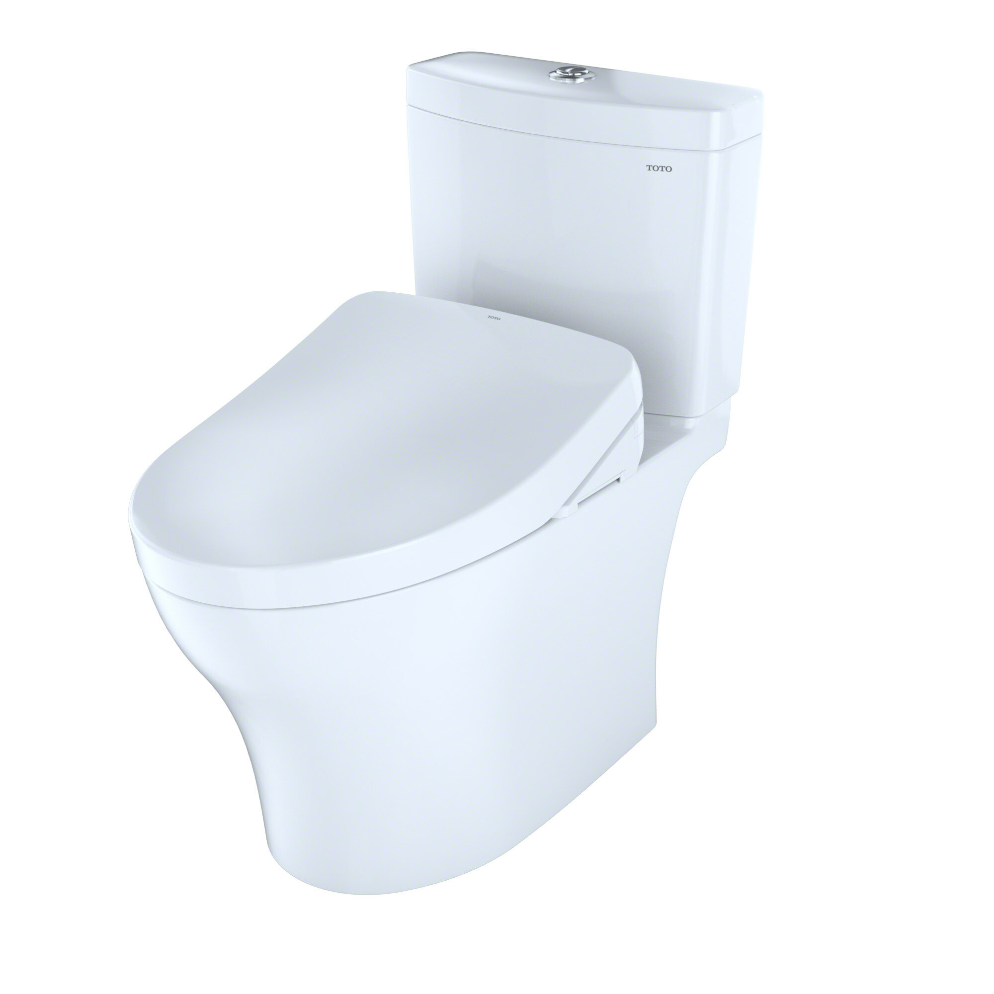 Pleasant Aquia Iv Dual Flush 1 28 0 8 Gpf Elongated Two Piece Toilet With S550E Electronic Bidet Seat Short Links Chair Design For Home Short Linksinfo