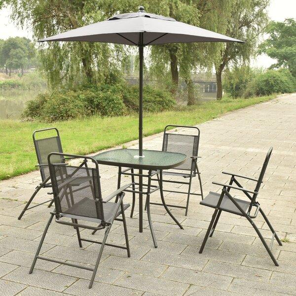 Cannock 6 Piece Dining Set with Umbrella by Ebern Designs Ebern Designs