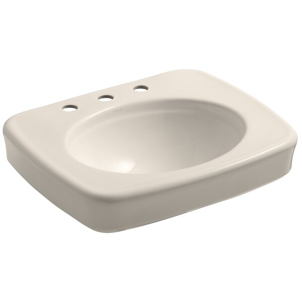 Bancroft® Ceramic 24 Pedestal Bathroom Sink by Kohler