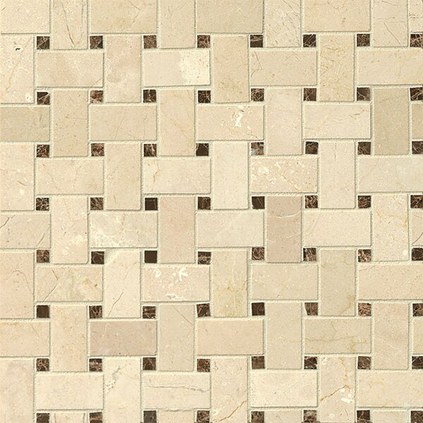 Basket Weave Marble Mosaic Tile in Belmond by Grayson Martin