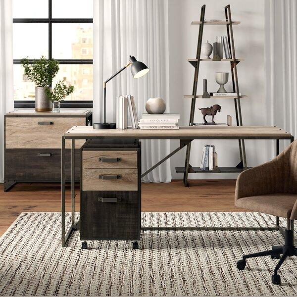 Edgerton Industrial 4 Piece Desk Office Suite by Greyleigh