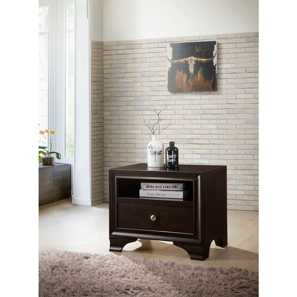 Talbott 1 - Drawer Nightstand in Tied to Color by Canora Grey