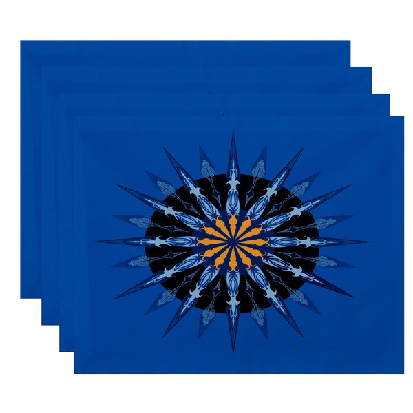 Hancock Sea Wheel Geometric Print Placemat (Set of 4) by Breakwater Bay