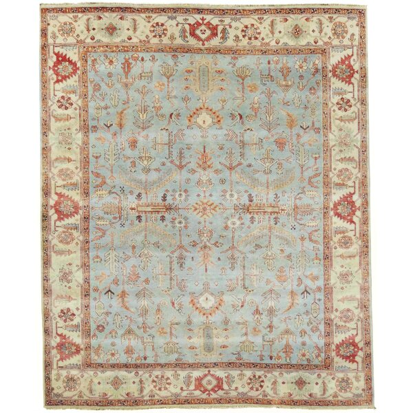 Hand-Knotted Wool Blue Area Rug by Exquisite Rugs