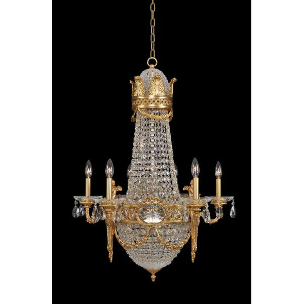 Bedfo 12 - Light Candle Style Empire Chandelier with Crystal Accents by Rosdorf Park Rosdorf Park