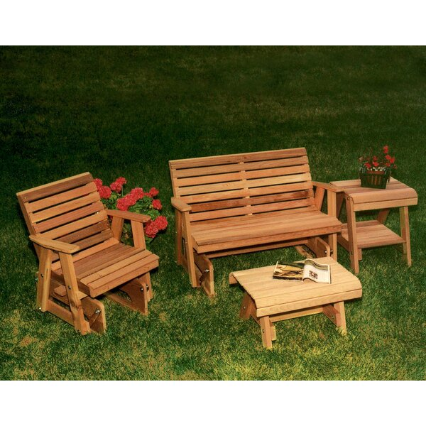 Tillison Cedar 4 Piece Seating Group by August Grove