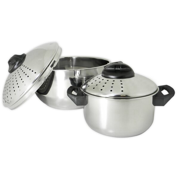 Stainless Steel 4 Piece Pasta Pot Set by Prime Pacific