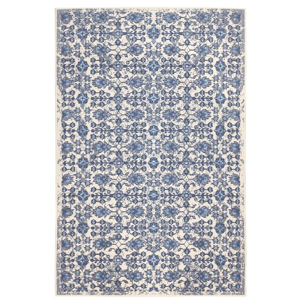 Jazmin Blue/Beige Area Rug by Charlton Home