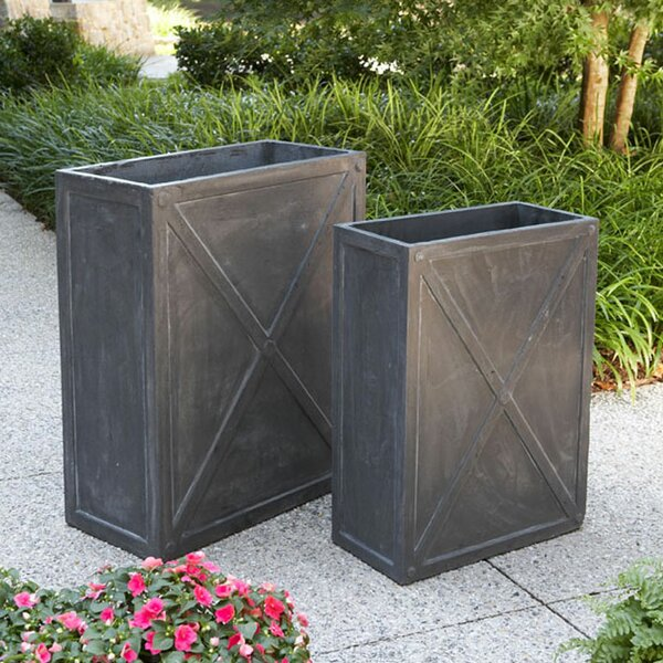 Riverton Narrow 2-Piece Composite Planter Box Set by Gracie Oaks