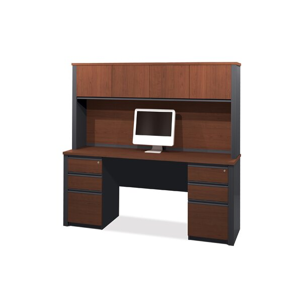 Bormann Computer Desk with Hutch by Red Barrel Studio