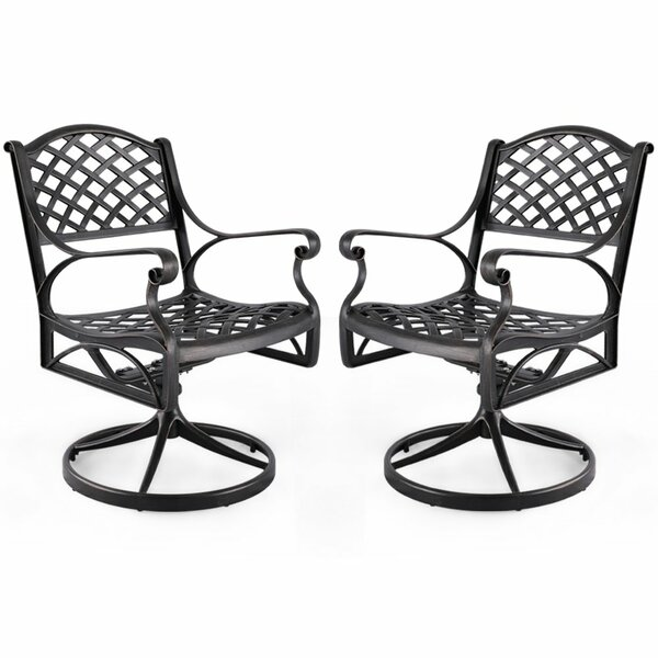 Throckmorton Solid Cast Aluminum Rocking Chair (Set of 2) by Fleur De Lis Living