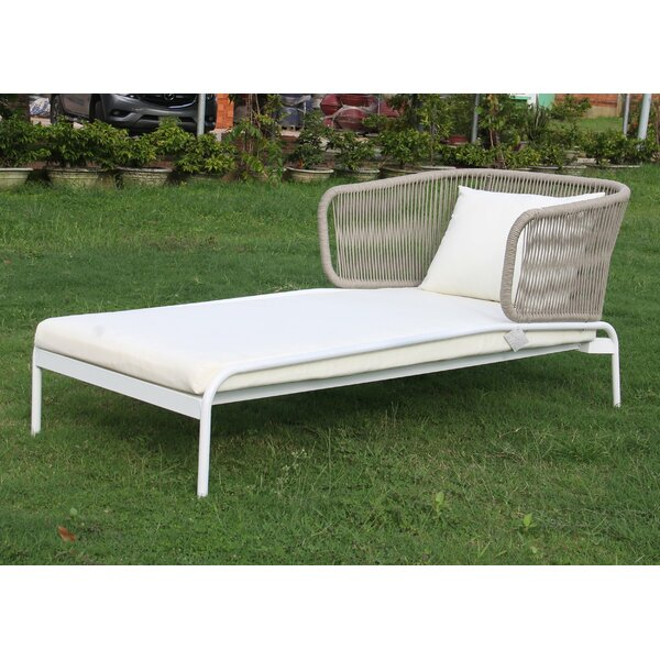 Ishani Chaise Lounge with Cushion by Bungalow Rose Bungalow Rose
