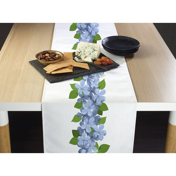 Miser Forget Me Nots Border Table Runner by August Grove