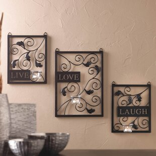 Live Love Laugh 3 Piece Black Wall Décor Set