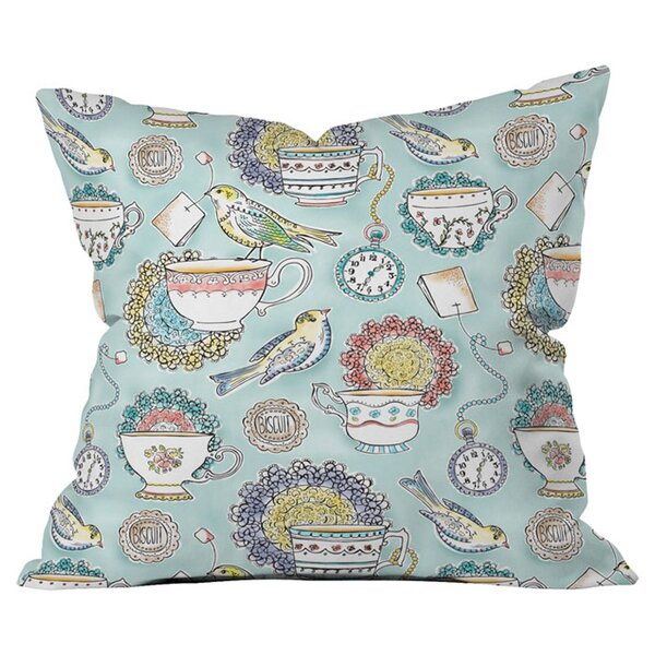 Tea Time Outdoor Throw Pillow