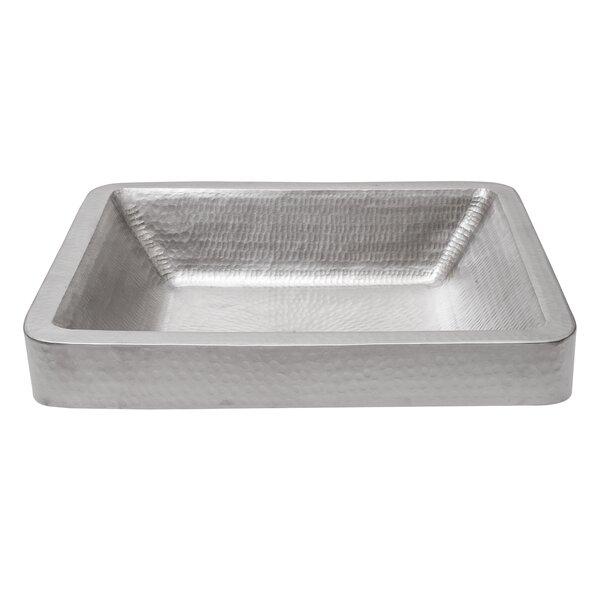 Metal Rectangular Vessel Bathroom Sink by Premier Copper Products