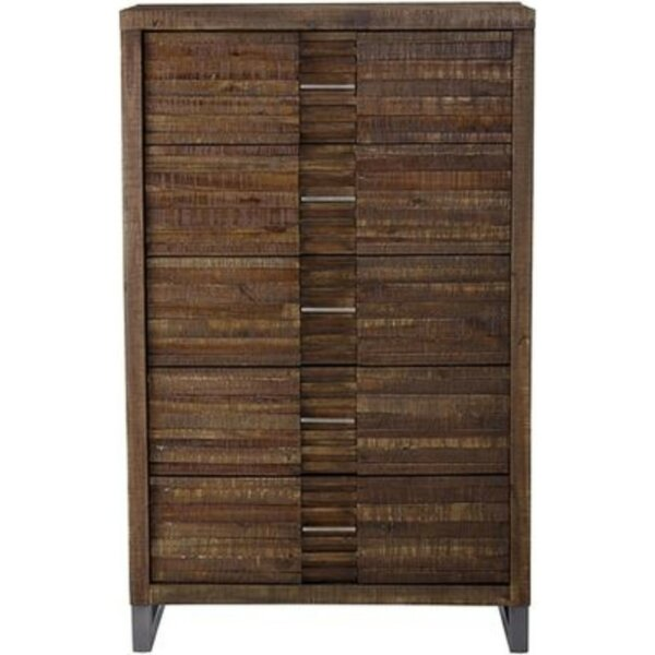Holli Wooden 5 Drawer Chest By World Menagerie by World Menagerie Amazing