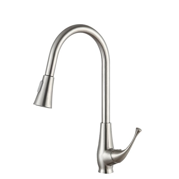 Meadow Series Pull Out Single Handle Kitchen Faucet by ANZZI