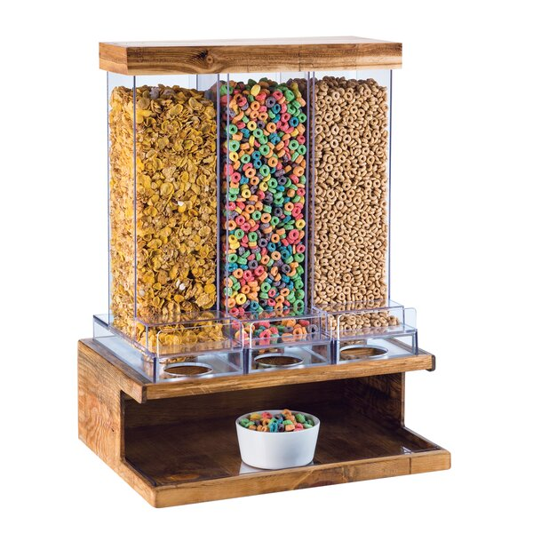 DeBary 332 Oz. Triple Canister Cereal Dispenser by Red Barrel Studio