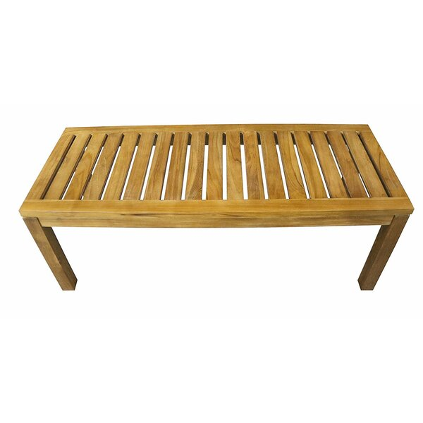 Burke Patio Teak Garden Bench by Millwood Pines