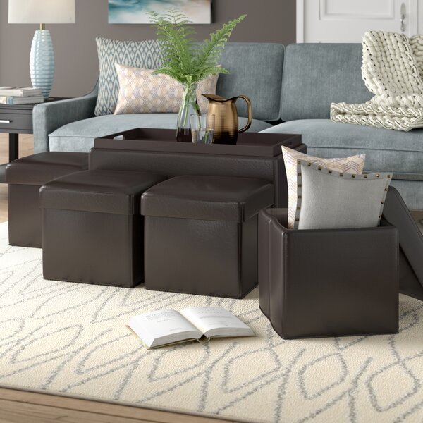 Aquavia 5 Piece Storage Ottoman Set by Ebern Designs