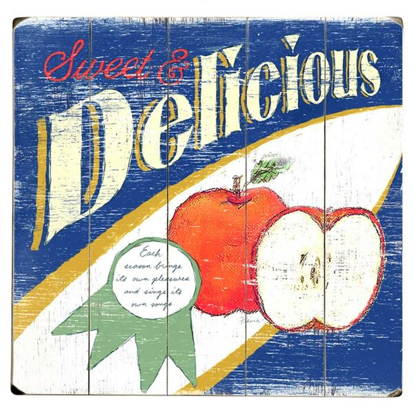 Delicious Apple Drawing Print Multi-Piece Image on Wood by Artehouse LLC