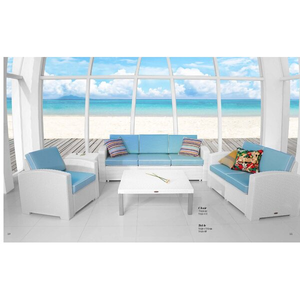 Luken 4 Piece Sectional Set with Cushions by Rosecliff Heights