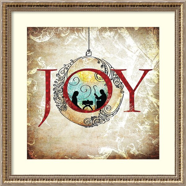 Christmas Joy Framed Graphic Art by The Holiday Aisle