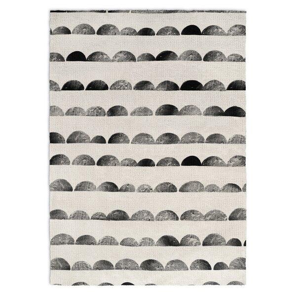 Allwood Black/Ivory Area Rug by Harriet Bee
