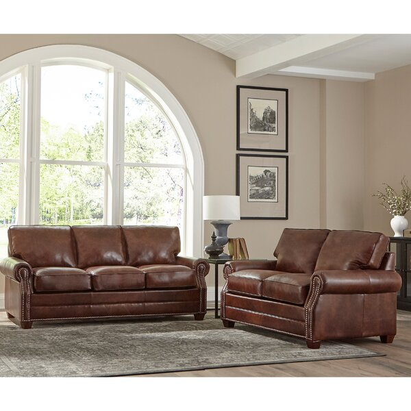 Lyndsey 2 Piece Leather Living Room Set By 17 Stories #1