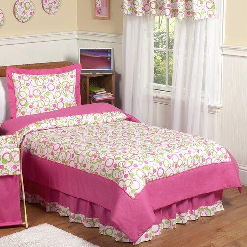Circles Pink 3 Piece Comforter Set by Sweet Jojo Designs