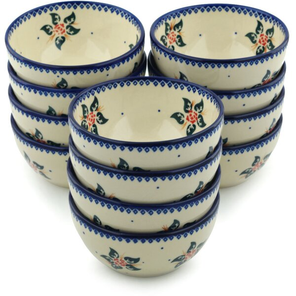 Simple Christmas Rice Bowl (Set of 12) by Polmedia