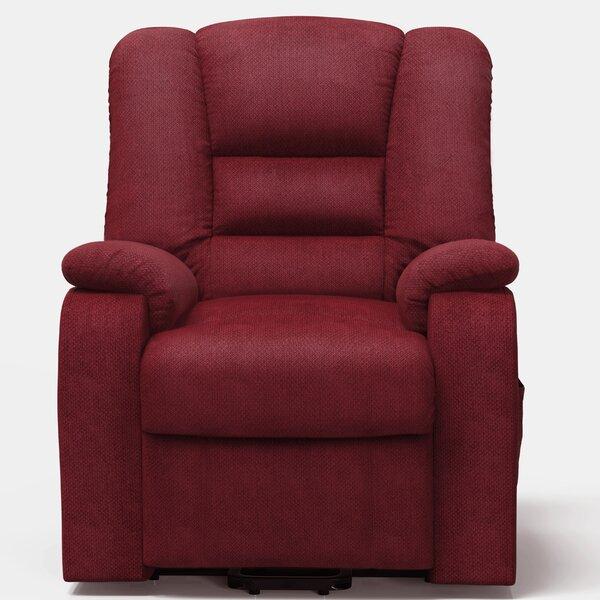 Galbraith Upholstered Fabric Power Lift Assist Recliner Red Barrel Studio W001850652