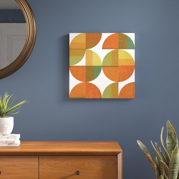 Four Suns Quartered Graphic Art on Wrapped Canvas by Langley Street