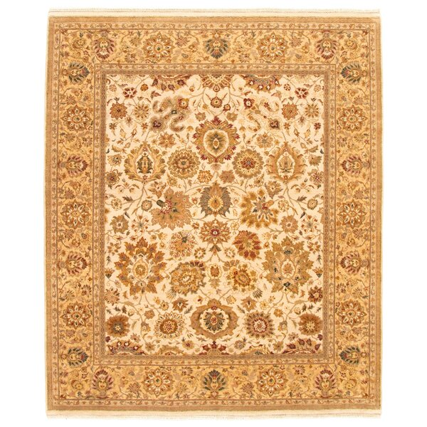Skyloft Hand Knotted Wool Yellow/Ivory Rug