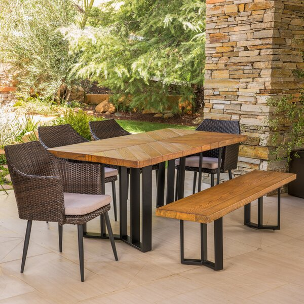 Outdoor 6 Piece Dining Set with Cushions by Gracie Oaks
