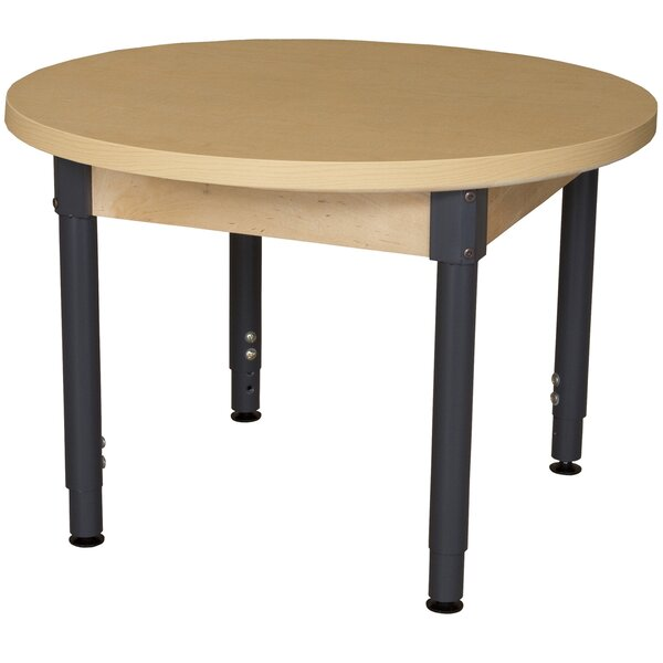 Round High Pressure Laminate Table (Adjustable Legs) by Wood Designs