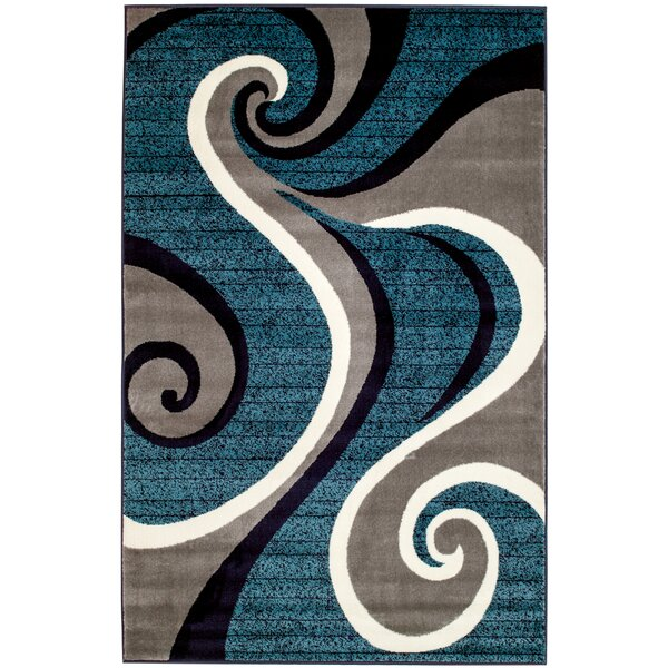 Rick Blue Area Rug by Zipcode Design