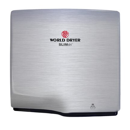 Slimdri Surface Mount Hand Dryer in Brushed Stainless Steel by World Dryer