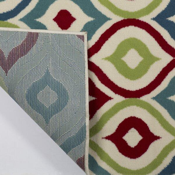 Lucia Red/Blue/Green Indoor/Outdoor Area Rug by Zipcode Design