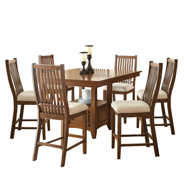 Quaker 7 Piece Solid Wood Dining Set by Alcott Hill