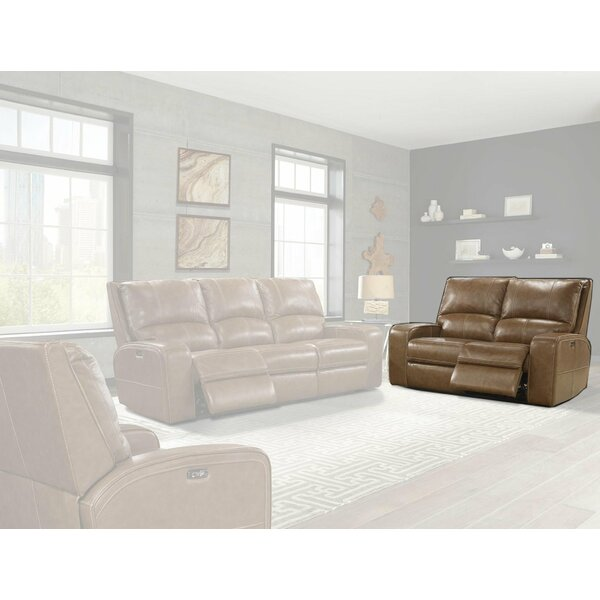 Suez Leather Reclining Loveseat By Latitude Run