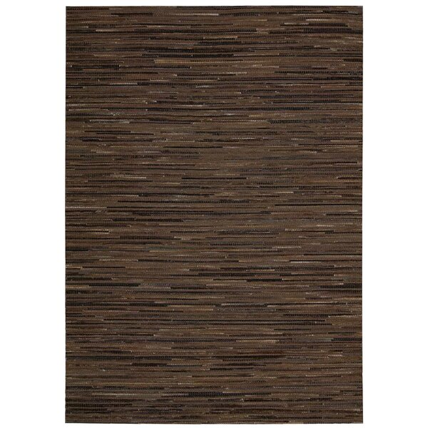 Capelle Hand-Woven Brown Area Rug by Nourison